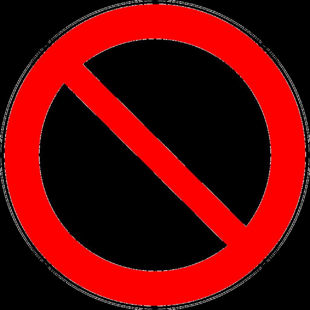 tanda dilarang