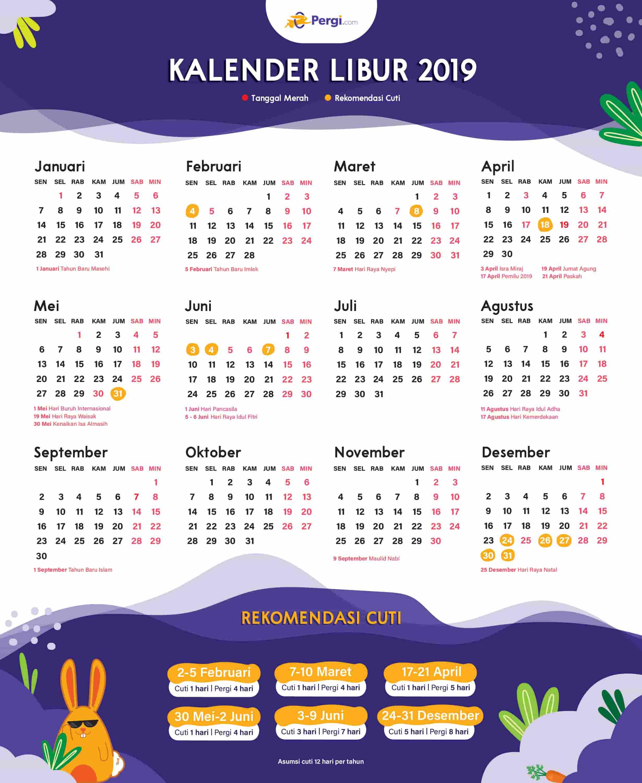 Kalender 2019 Indonesia Dan Rekomendasi Liburannya