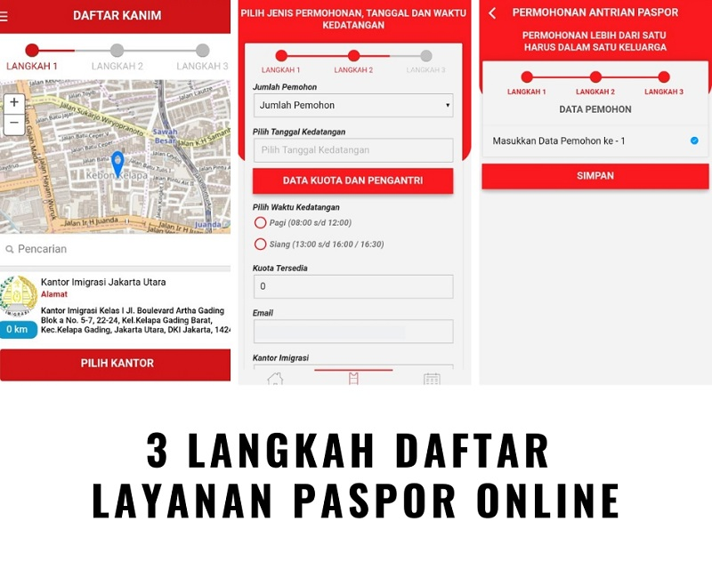 3 Langkah Mendaftar Paspor Online Via Aplikasi