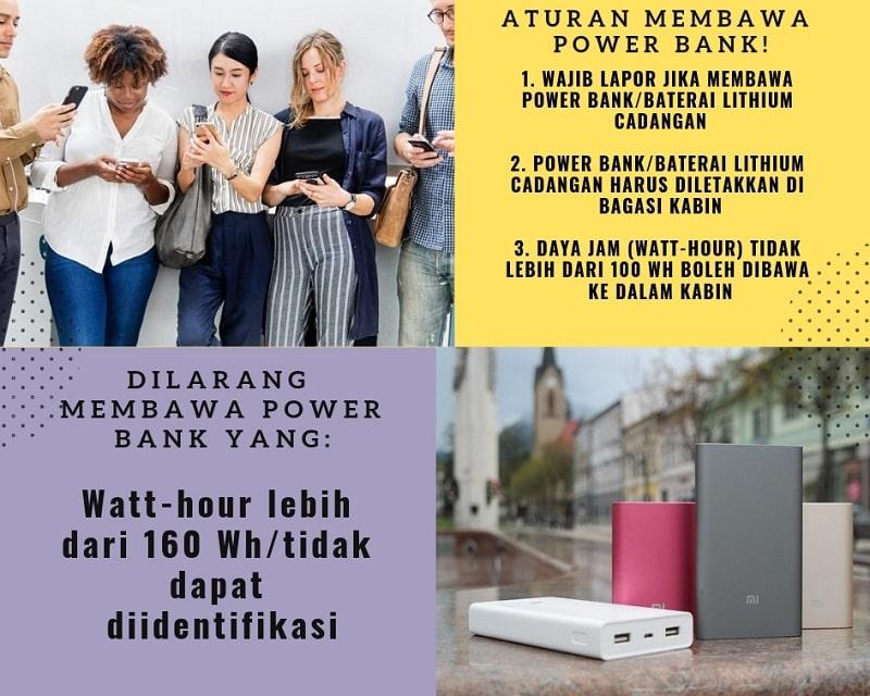Ketentuan dan Aturan Membawa Power Bank