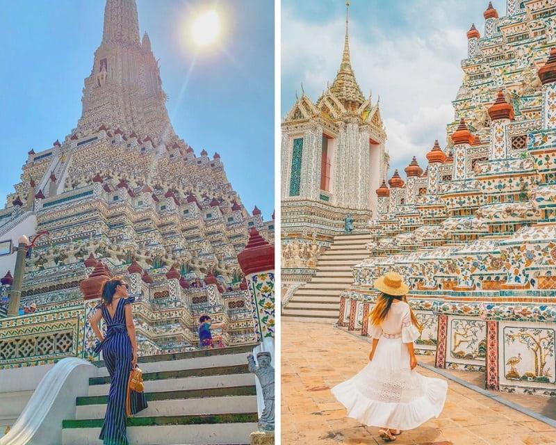 Tempat Wisata Bangkok Thailand Wat Arun Sumber Instagram wulan.citra.dewi dan business_voyage-min