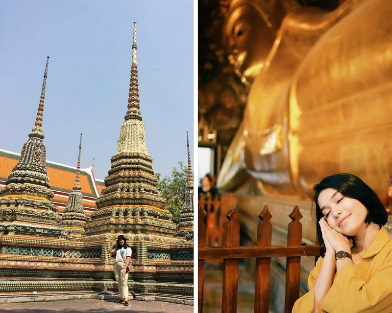 Tempat Wisata Bangkok Thailand Wat Pho Sumber Instagram cammychou dan elmalita