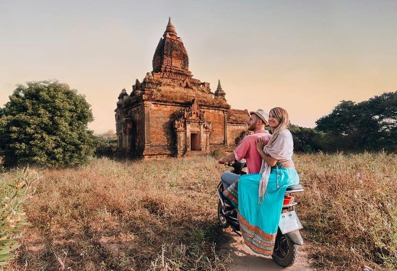 Tempat Honeymoon Bagan Myanmar Sumber Instagram mochilamonkeys