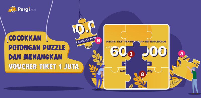 GiveAway Puzzle Berhadiah 1 Juta Rupiah dari Pergi.com