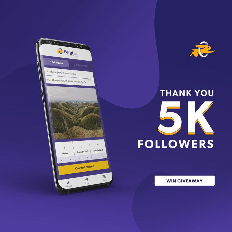 Thank You 5K GiveAway Menangkan Hadiah 1 Juta Rupiah